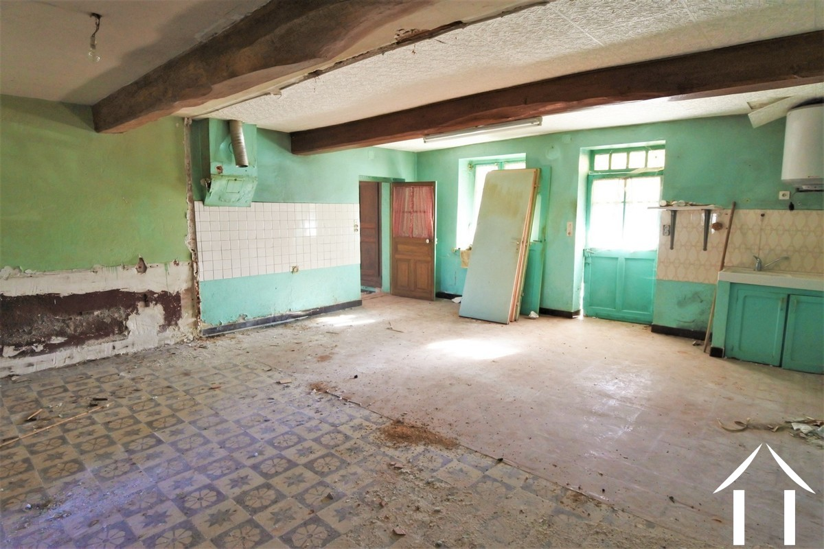 Renovation project, farmhouse, outbuildings and apartment