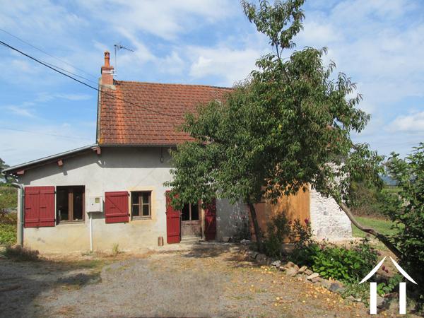 Farmhouse with barns